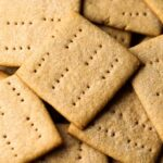A pile of homemade graham crackers.