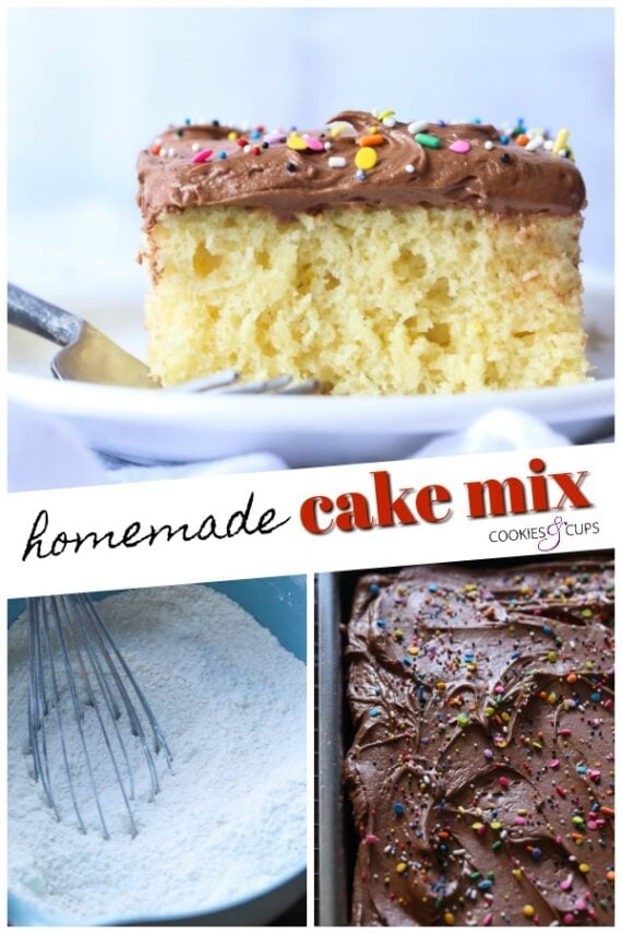 Homemade Cake Mix Pinterest Image