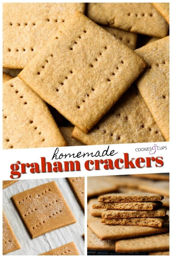 Pin image for Homemade Graham crackers