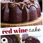 Red Wine Chocolate Cake Pinterest Image