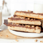 Almond Roca Cookies topped with milk chocolate
