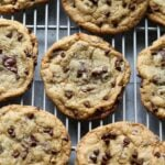 Chewy Chocolate Chip Cookies on a cooling rack