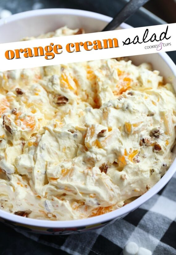 Orange Cream Salad Pinterest Image