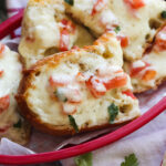 Beach bread or cheesy garlic bread in a basket