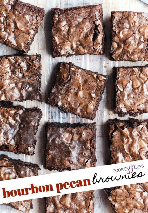 Bourbon Pecan Brownies Pinterest Image