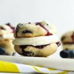 Lemon Blueberry Whoopie Pies on a plate