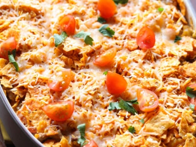 A Cheesy Dorito Casserole From Above