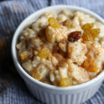 Rice Pudding Topped with Extra Ground Cinnamon