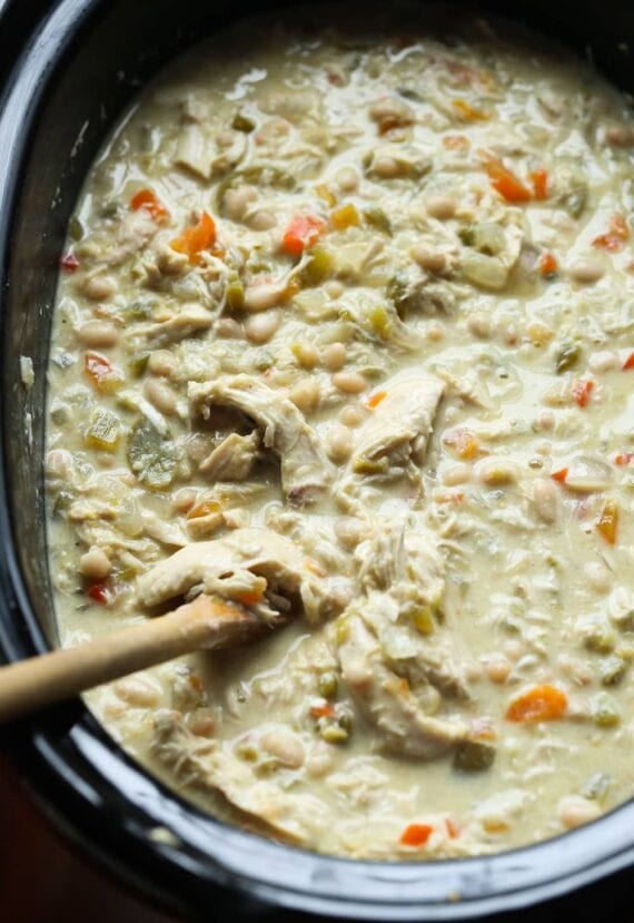 White Chicken Chili in a crock pot