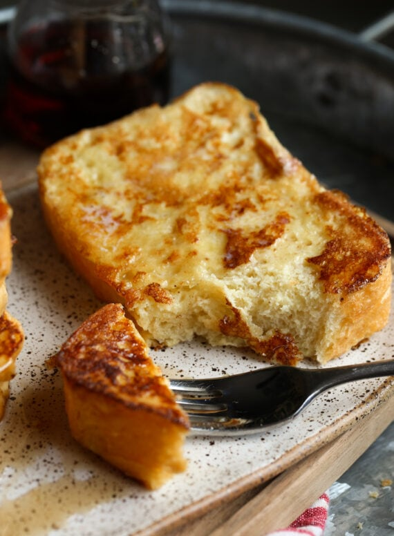 A Fork Full of Fresh Brioche French Toast