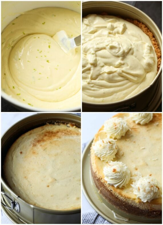 How to make key lime cheesecake collage