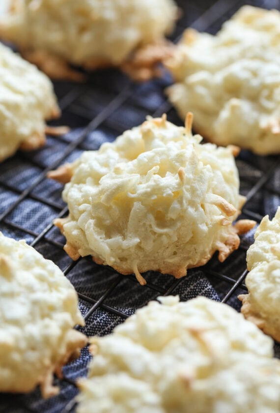 Seven Coconut Macaroons Cooling