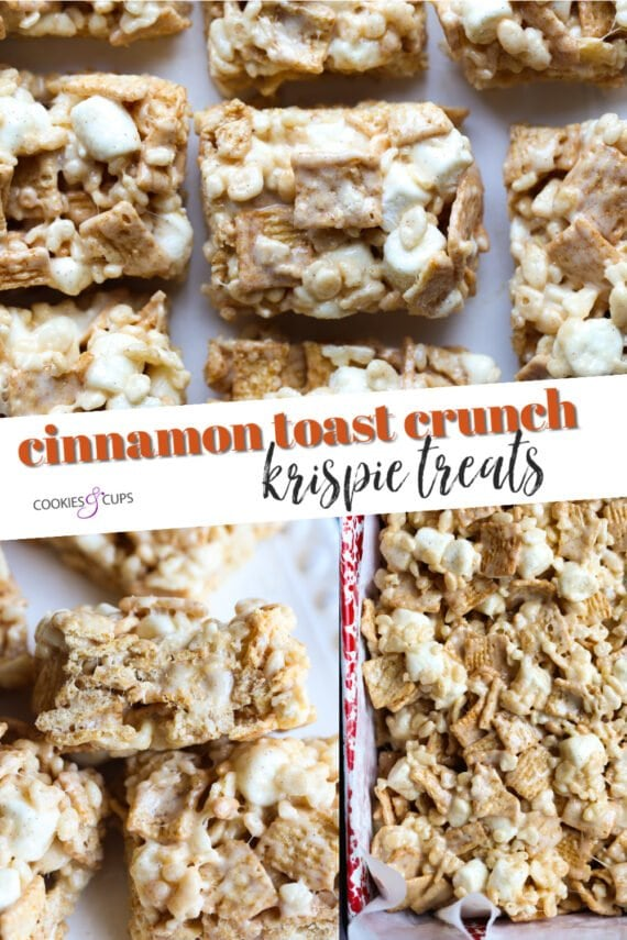 Cinnamon Toast Crunch Krispie Treats Pinterest Image