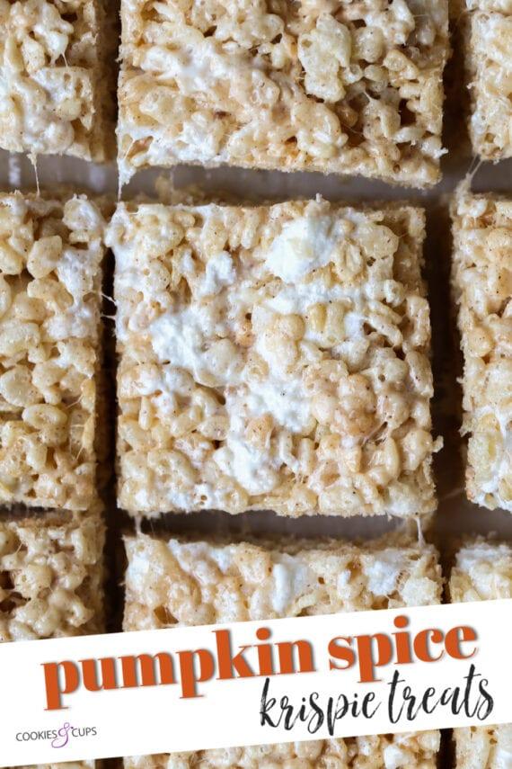 Pumpkin Spice Rice Krispie Treats Pinterest Image