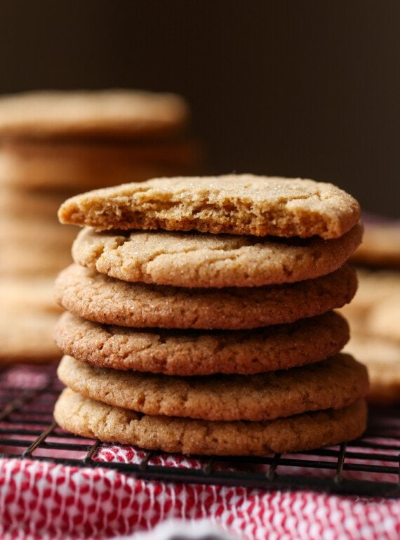 Stacked Cinnamon Crackle Cookies