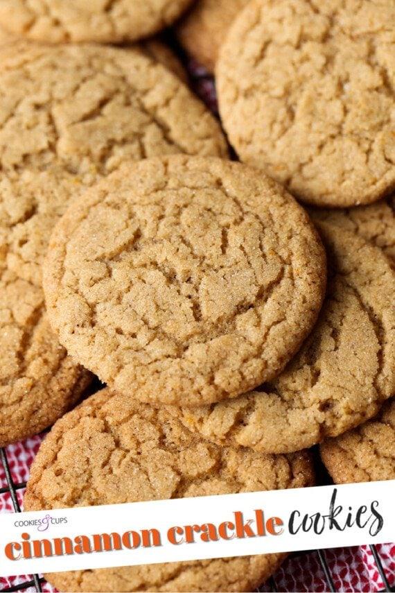 Cinnamon Crackle Cookies pinterest image