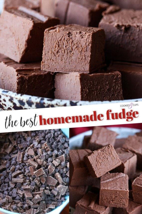 Homemade Fudge Recipe Pinterest Image