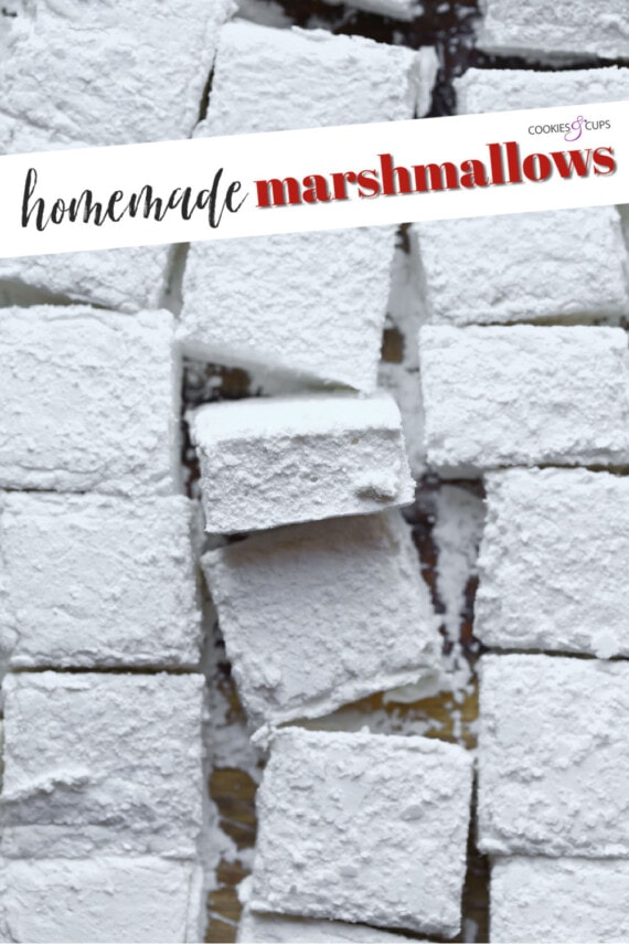 Fifteen Large Homemade Marshmallows With a Text Overlay Introducing Them