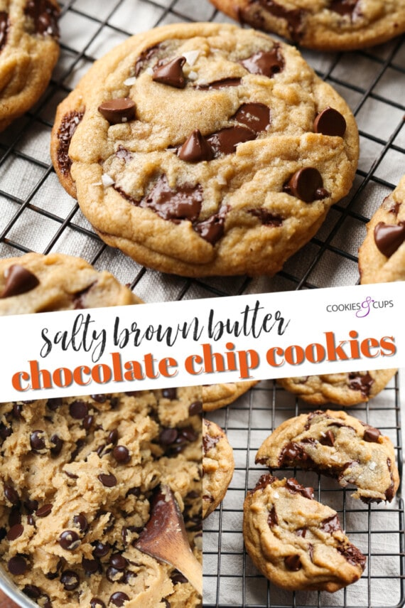 Salted Brown Butter Chocolate Chip Cookies Pinterest Image