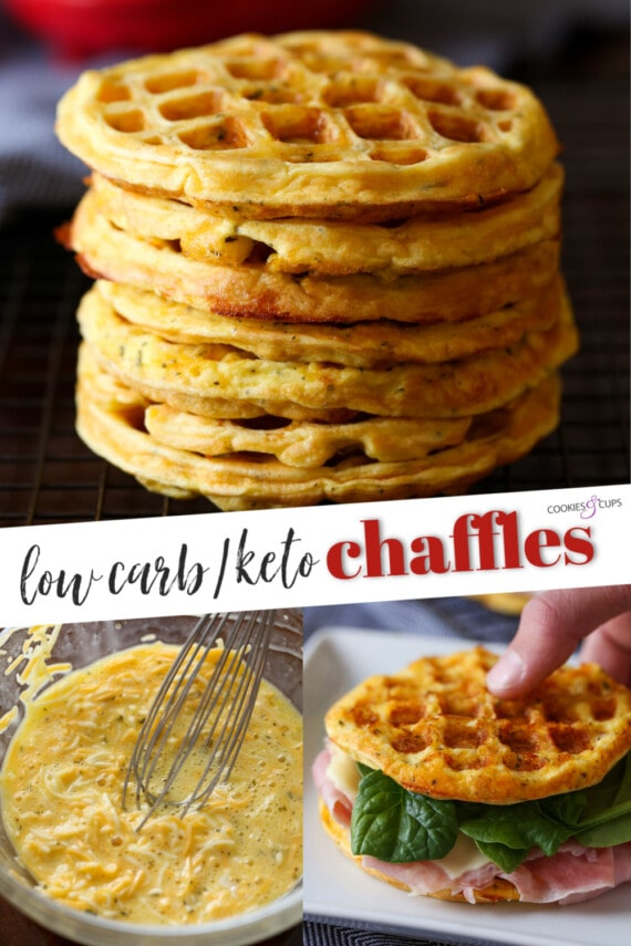 Chaffles Pinterest Collage Image