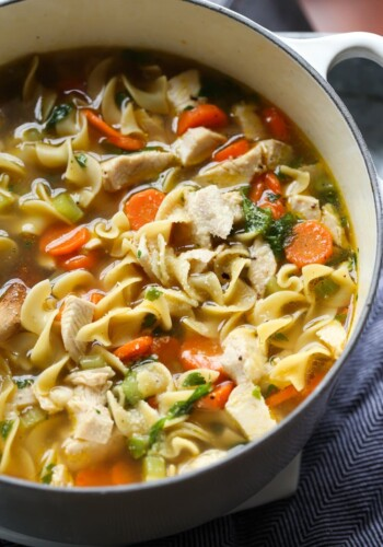 Chicken Noodle Soup in a dutch oven