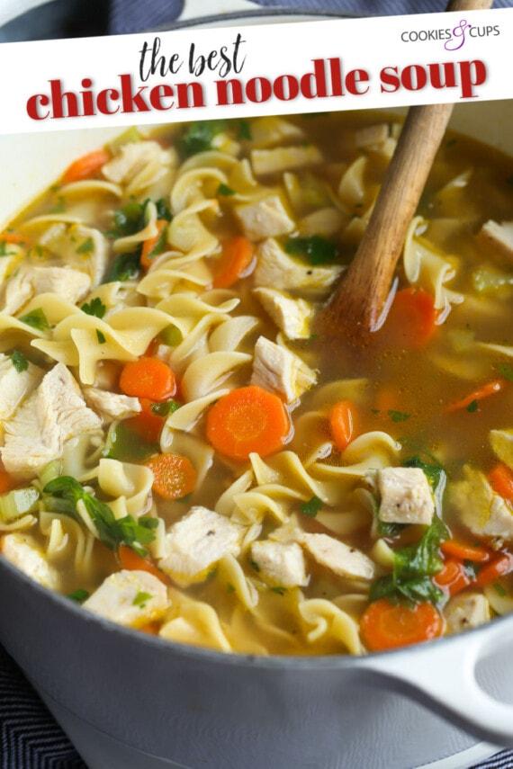 Chicken Noodle Soup Pinterest Image
