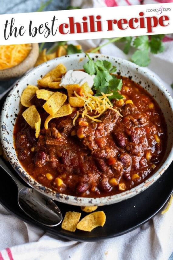 Chili Recipe Pinterest Image