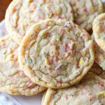 Fruity Pebbles Sugar Cookies on a plate