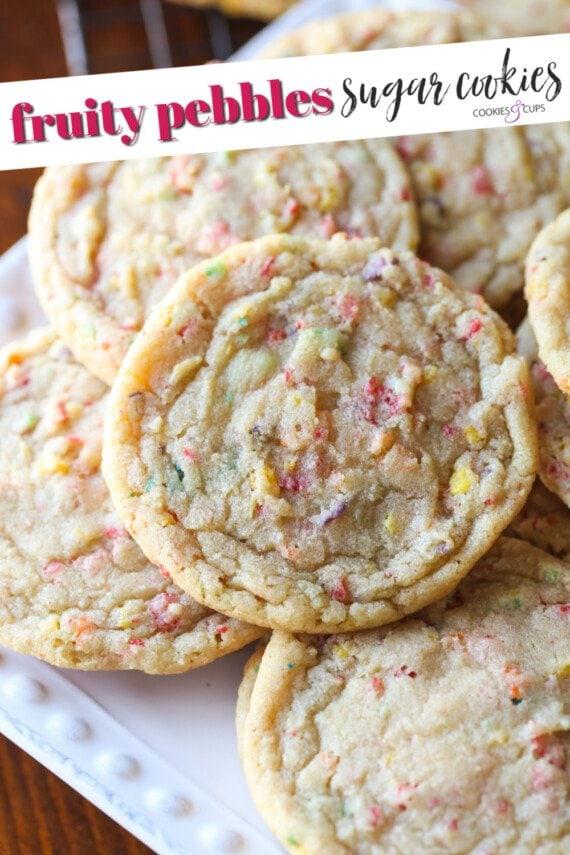 Fruity Pebbles Sugar Cookies Pinterest Image