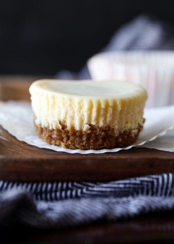 unwrapped mini cheesecake