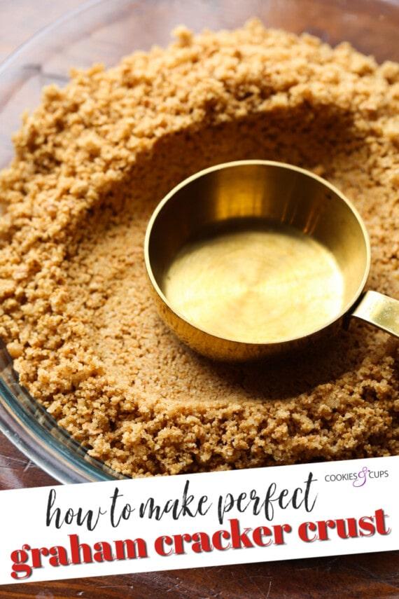 Pinterest image for graham cracker pie crust.