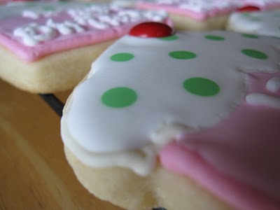 A Super Close-Up Shot of the Polka Dot Details on a Birthday Cookie