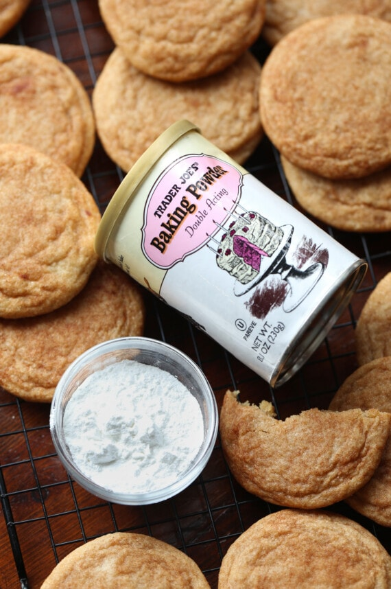 Baking Powder container as a substitute in baking for cream of tartar and baking soda