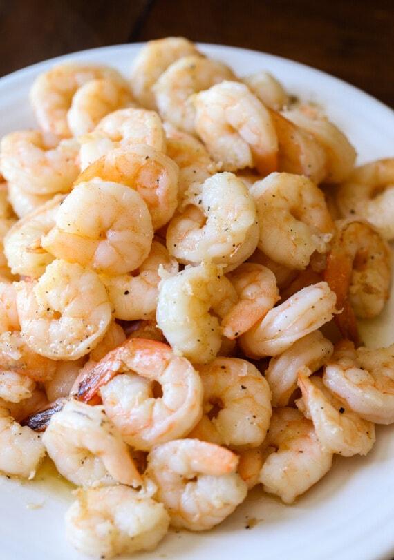sautéed shrimp on a plate