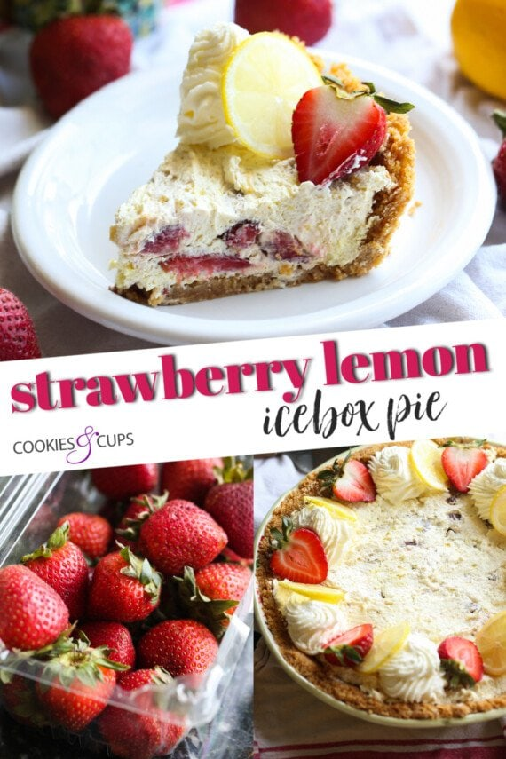 Strawberry Lemon Icebox Pie Pinterest Image