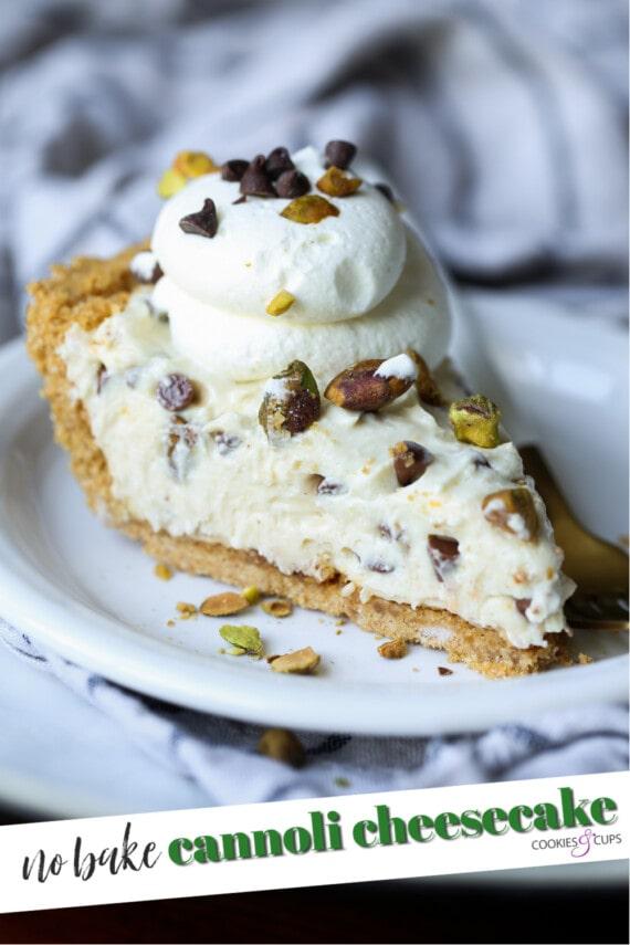 Cannoli Cheesecake Pinterest Image