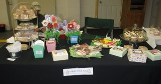 A Landscape-Style Shot of my Table at the Craft Fair
