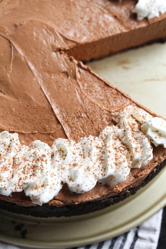 A Nutella no bake cheesecake.