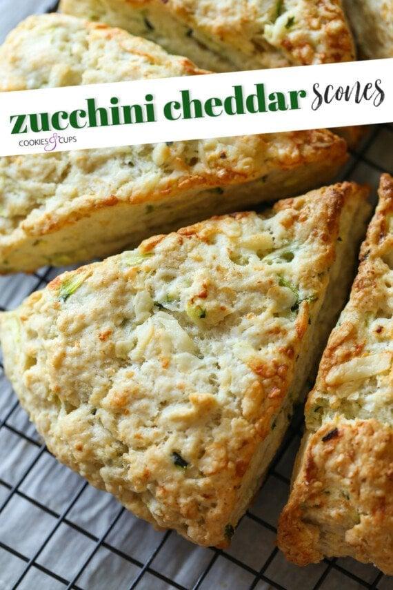 Zucchini Cheddar Scones Pinterest Image