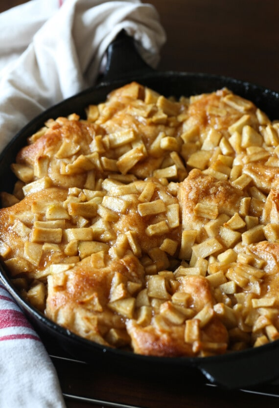 Apple Biscuits baked in a skillet