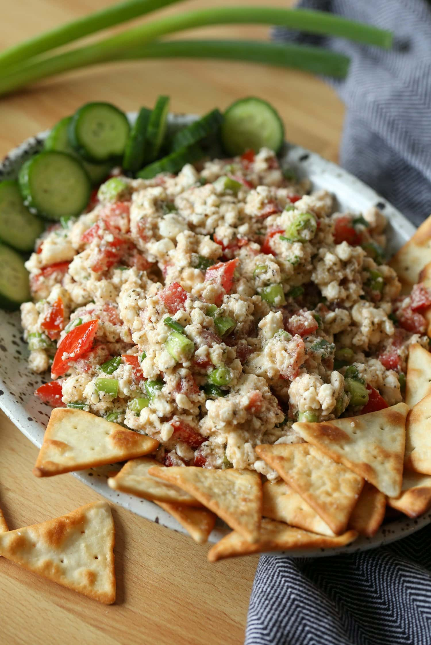 Greek dip with feta cheese and greek seasoning