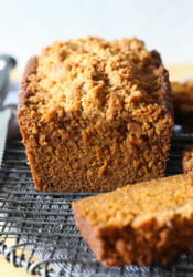 quick and easy pumpkin bread sliced