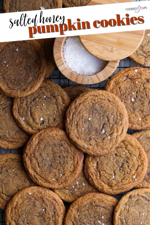 Salted Chewy Pumpkin Cookies Pinterest Image
