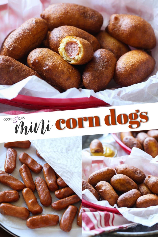 mini corn dogs pinterest image