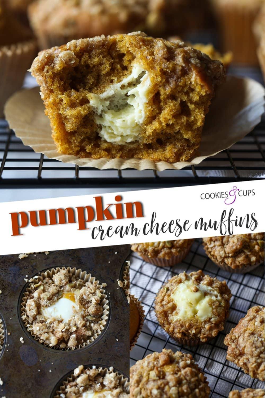 Pumpkin Cream Cheese Muffins Pinterest Image