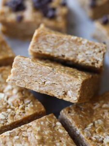 3 Ingredient No Bake Peanut Butter Oat Squares