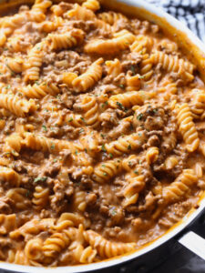 Creamy Beef Pasta is an easy pasta recipe that is made in 30 minutes